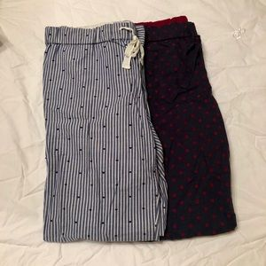 J. Crew polka dot pajama pants size S